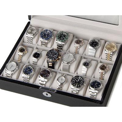 ロイヤルハウゼン 時計収納ケース 腕時計 18本収納 ケース ウォッチケース ブラック 時計雑貨 GC02-TP-18
