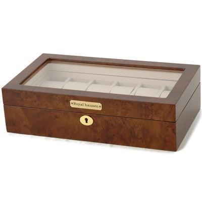 ロイヤルハウゼン 時計収納ケース 腕時計 12本収納 ケース ウォッチケース ブラウン 時計雑貨 GC02-LG3-12