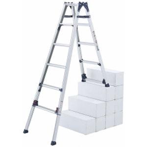 ピカコーポレイション 四脚アジャスト式はしご兼用脚立 かるノビ SCL-45A