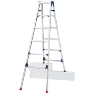 ピカコーポレイション 四脚アジャスト式はしご兼用脚立 かるノビ SCL-120LA