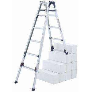 ピカコーポレイション 四脚アジャスト式はしご兼用脚立 かるノビ SCL-34A