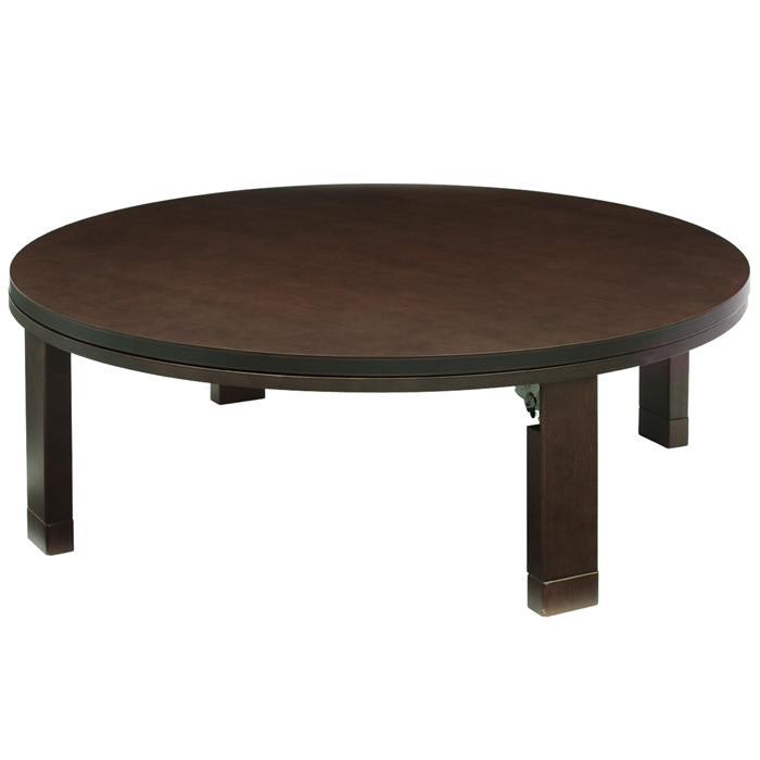 ナカムラ 天然木丸型折れ脚こたつ ロンド 120cm テーブル 円形 (ブラウン) 11100199br