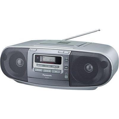 パナソニック ワイドFM対応ポータブルCDラジカセ RX-D47-S