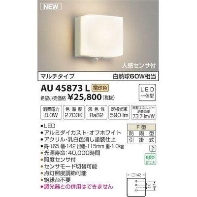 コイズミ 防雨型ブラケット AU45873L