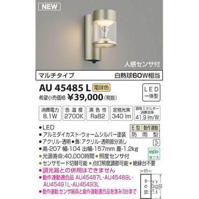 コイズミ 防雨型ブラケット AU45485L