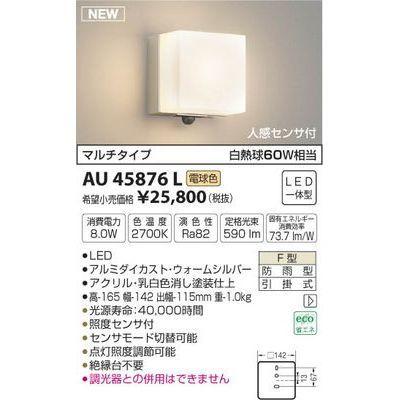 コイズミ 防雨型ブラケット AU45876L