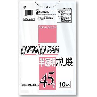 ケミカルジャパン 半透明 ポリ袋 CC-104WS (ゴミ袋)【60個セット】 4991437120156