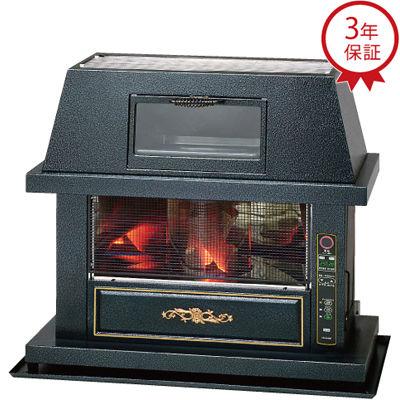 トヨトミ セラミックウッドで暖炉のイメージを演出FF式ストーブ ((B)ブラック) (FQC70G) FQ-C70G