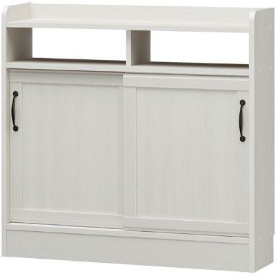 白井産業 セミクラシックなやさしい表情の食器棚 薄型キャビネット CIELONE チェローネ CEN-8590SD
