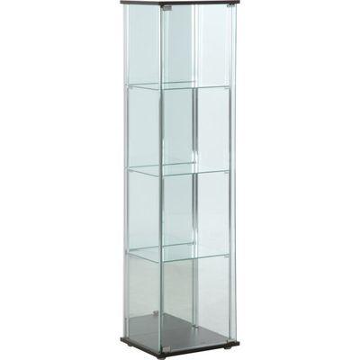 不二貿易 ガラスコレクションケース 4段(背面ミラー付き) 96046