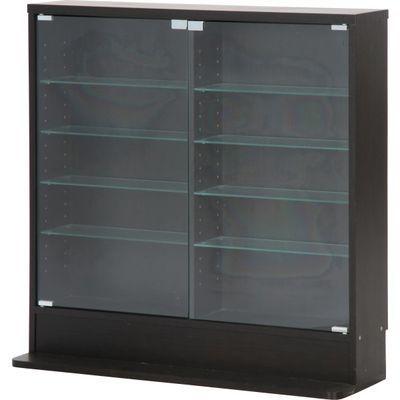 不二貿易 ガラスコレクションケース ロータイプ 浅型 BK 96070