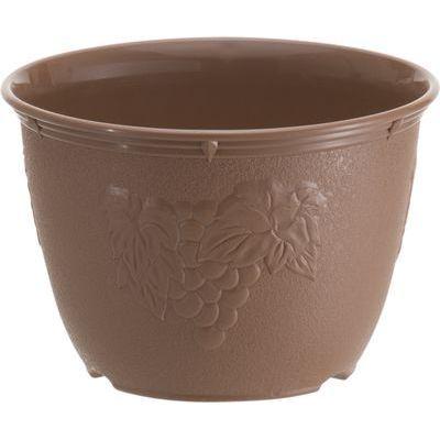 山田化学 植木鉢 ビオラデコ 6号 チョコブラウン (プラスチック製 プランター)【120個セット】 4965534595728【納期目安:1週間】