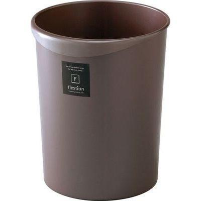 リス ゴミ箱 8L フレクション 丸 パールショコラ (ダストボックス くずかご)【40個セット】 4971881127703
