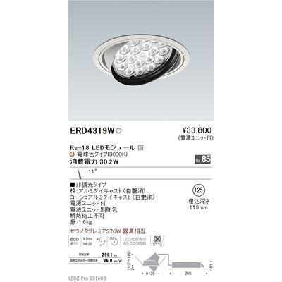 遠藤照明 LEDZ Rs series ユニバーサルダウンライト ERD4319W