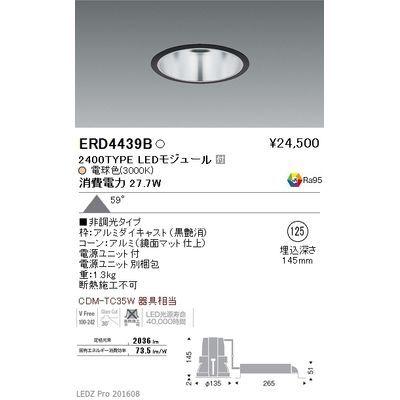 遠藤照明 LEDZ ARCHI series ベースダウンライト:鏡面マットコーン ERD4439B