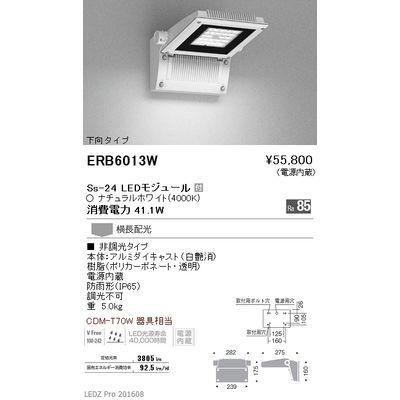 遠藤照明 LEDZ Mid Power/Ss series/LEDZ Mid Power series テクニカルブラケット/アウトドアテクニカルブラケット ERB6013W