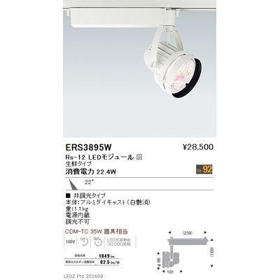 遠藤照明 LEDZ Rs series 生鮮食品用照明(スポットライト) ERS3895W