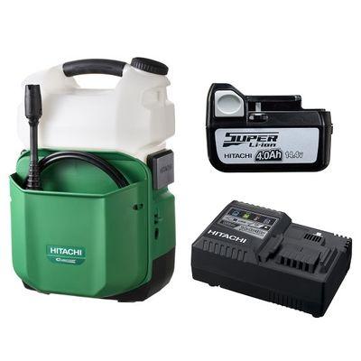 HiKOKI(日立工機) 【お買い得セット品!!】日立工機 コードレス高圧洗浄機(急速充電器、バッテリー付) AW14DBL(LLC)
