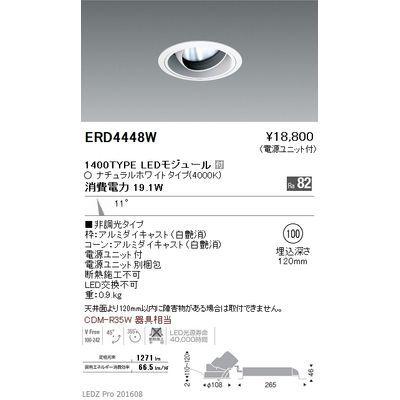 遠藤照明 LEDZ ARCHI series ユニバーサルダウンライト ERD4448W