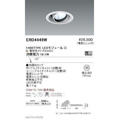 遠藤照明 LEDZ ARCHI series ユニバーサルダウンライト ERD4449W