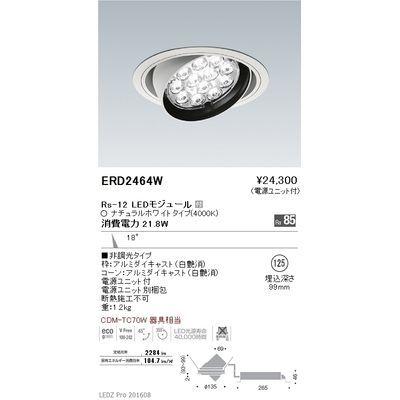 遠藤照明 LEDZ Rs series ユニバーサルダウンライト ERD2464W