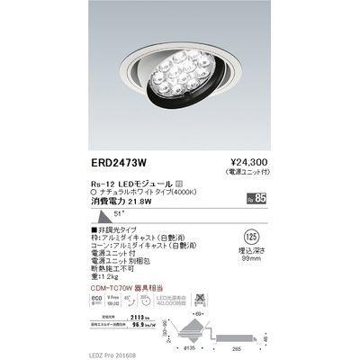 遠藤照明 LEDZ Rs series ユニバーサルダウンライト ERD2473W