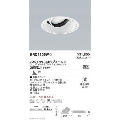 遠藤照明 LEDZ ARCHI series ユニバーサルダウンライト ERD4305W