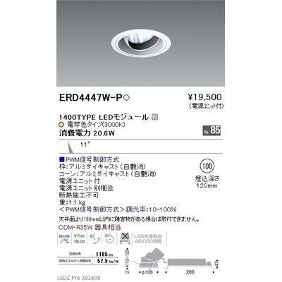 遠藤照明 LEDZ ARCHI series ユニバーサルダウンライト ERD4447W-P