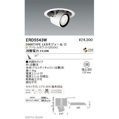 遠藤照明 LEDZ ARCHI series リプレイスユニバーサルダウンライト(アジャスタブルタイプ) ERD5543W
