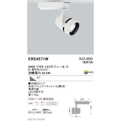 遠藤照明 LEDZ ARCHI series スポットライト ERS4571W