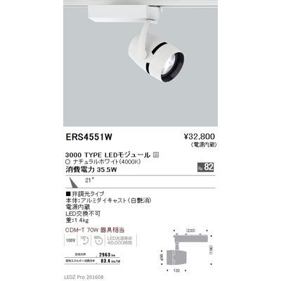 遠藤照明 LEDZ ARCHI series スポットライト ERS4551W