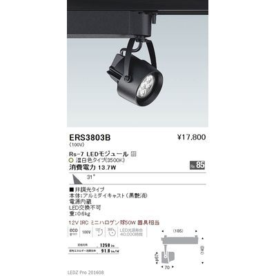 遠藤照明 LEDZ Rs series スポットライト ERS3803B
