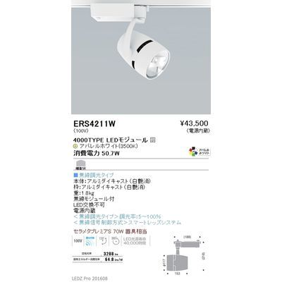 遠藤照明 LEDZ ARCHI series ウォールウォッシャースポットライト ERS4211W
