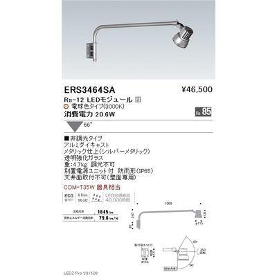 遠藤照明 LEDZ Rs series アウトドアスポットライト(アームタイプ) ERS3464SA