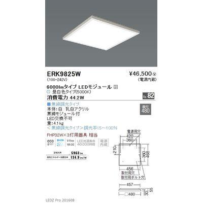 遠藤照明 LEDZ FLAT BASE series スクエアベースライト 下面乳白パネル形 ERK9825W