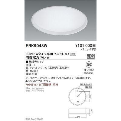 遠藤照明 LEDZ TWIN TUBE series デザインベースライト 下面乳白パネル形 ERK9048W