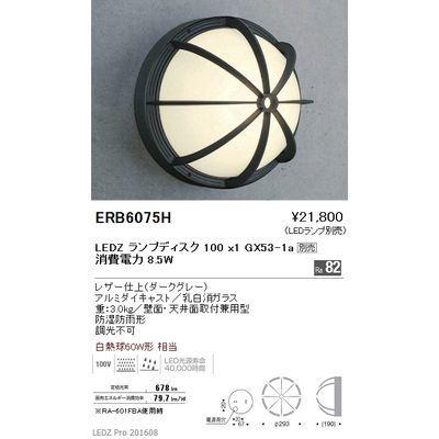 遠藤照明 アウトドア ブラケット〈LEDランプ別売〉 ERB6075H