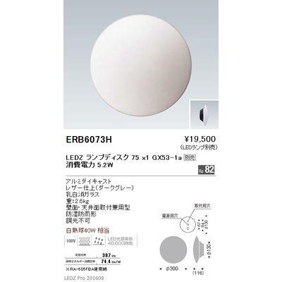 遠藤照明 アウトドア ブラケット〈LEDランプ別売〉 ERB6073H