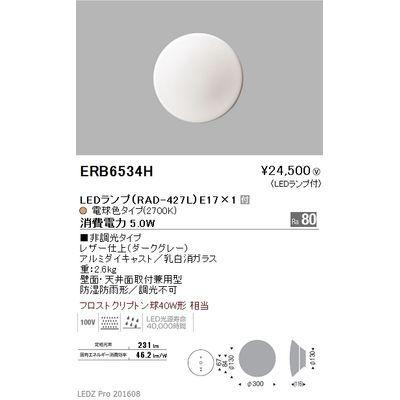 遠藤照明 アウトドア ブラケット〈LEDランプ付〉 ERB6534H