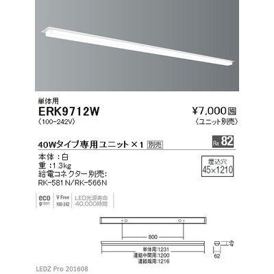 遠藤照明 LEDZ Linear32 series デザインベースライト 単体用- ERK9712W