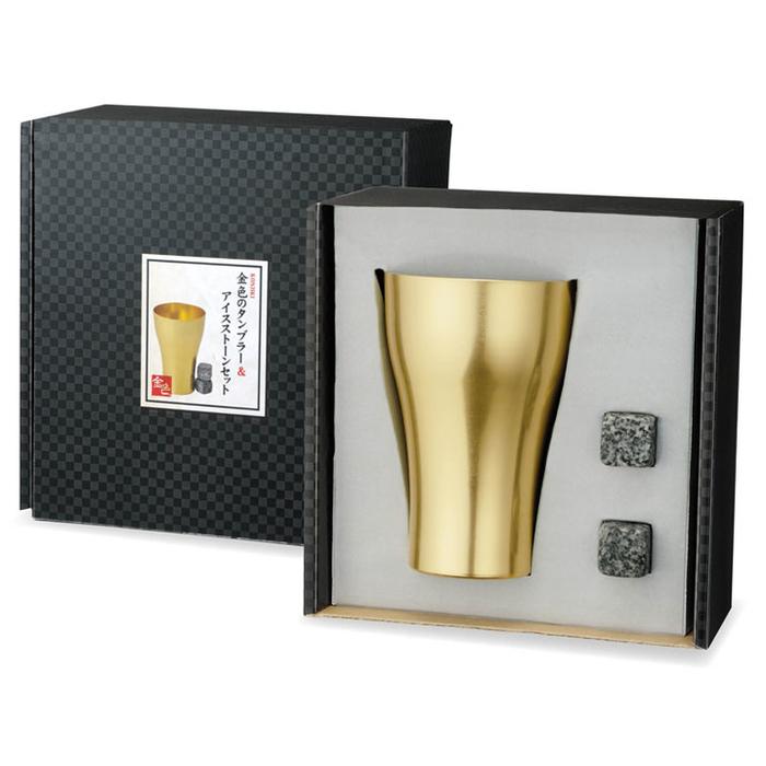 その他 【54個セット】金色のタンブラー&アイスストーンセット 2664301