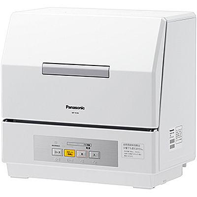 パナソニック 食洗機内のかごが進化し、さらに食器がセットしやすい食器洗い乾燥機【プチ食洗】 (ホワイト) (NPTCR4W) NP-TCR4-W