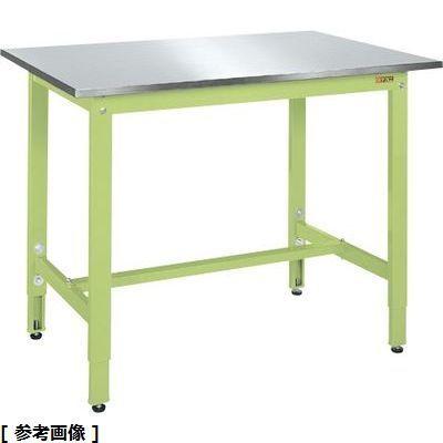 サカエ 軽量高さ調整作業台TKK8タイプ(ステンレスカブセ天板仕様) TKK8-187SU3N