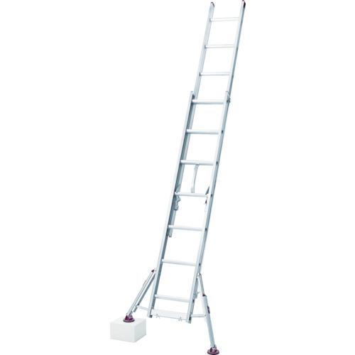 長谷川工業 ハセガワ スタビライザー付脚部伸縮式2連はしご ハチ型 LSS21.054