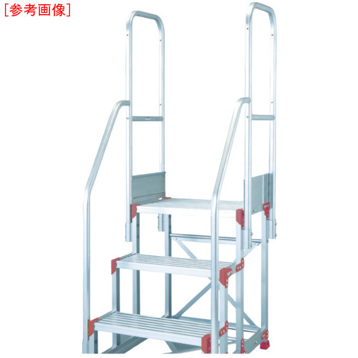 ピカコーポレイション ピカ 作業台用手すりZG-TE型 階段両手すり天場二方 3・4段用 ZGTE29A11H