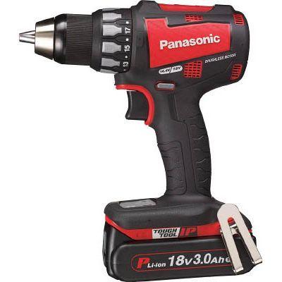 パナソニックエコソリューション Panasonic 充電ドリルドライバー 18V 3.0Ah (赤) EZ74A2PN2GR