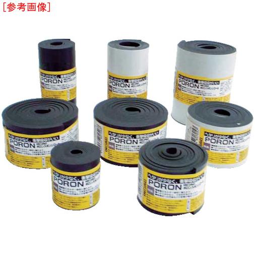 イノアックコーポレーション イノアック マイクロセルウレタンPORON 黒 3×30mm×24M巻(テープ付 L24T33024M