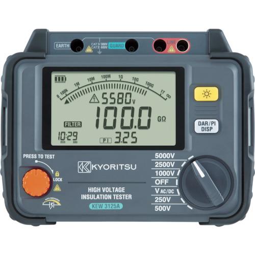 共立電気計器 KYORITSU 3125A デジタル高圧絶縁抵抗計 KEW3125A