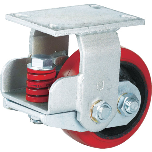 SAMSONG CASTER SAMSONG スプリング機能付きキャスター 固定150mm 耐荷重670kg TP7160RPCIBB