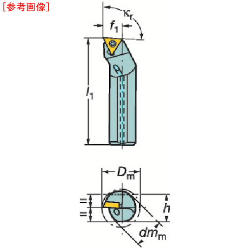 サンドビック サンドビック コロターン107 ポジチップ用ボーリングバイト A10KSTFCL09